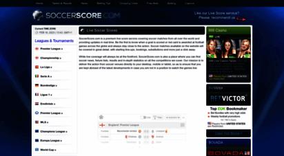 soccerscore.com - soccer score - live soccer / football scores and match results