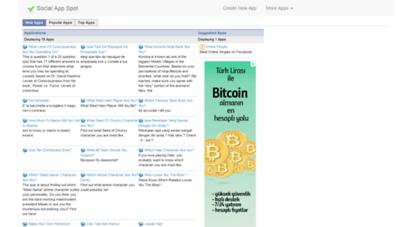 socialappbuilder.com - application list -  socialappspot