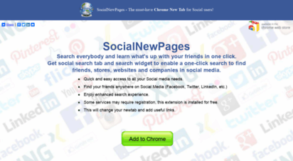 socialnewpages.com - social-tab: search your friends online