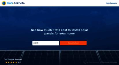 solar-estimate.org - design home solar online using prices of solar providers near you  solar-estimate.org