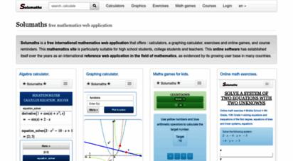 solumaths.com - solumaths - web software - mathematics solutions online.
