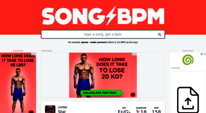 songbpm.com - find the bpm for any song  type a song, get a bpm  every tempo for every song  songbpm