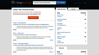songmeanings.com - song lyrics, song meanings & more at songmeanings