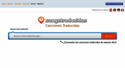 songstraducidas.com - letras de canciones traducidas al español en songstraducidas.com