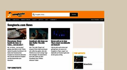 songtexte.com - kostenlose songtexte, lyrics, liedtexte und übersetzungen auf songtexte.com
