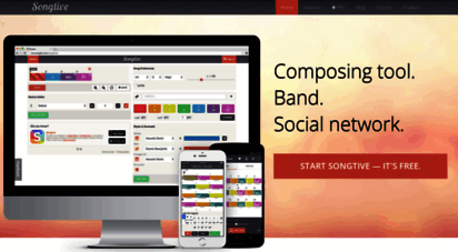 songtive.com - songtive - composing tool, band, social network.