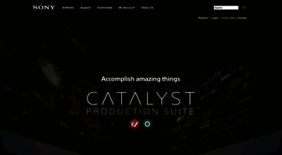 sonycreativesoftware.com - sony creative software - catalyst video editing