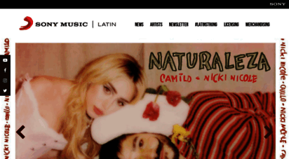 sonymusiclatin.com - sony latin news  the official sony music latin site