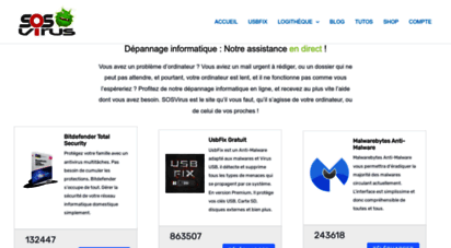 sosvirus.net - sosvirus : depannage pc gratuit