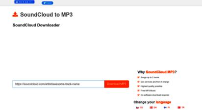 soundcloudmp3.org - soundcloud downloader and soundcloud to mp3 converter