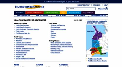 southwesthealthline.ca -