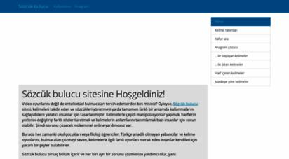 sozcukbul.com - kelime türetme - anagram çözümleri - kafiyeleme - sözcük bulucu