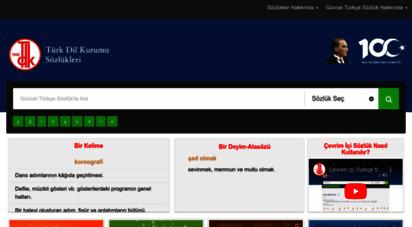 sozluk.gov.tr - türk dil kurumu sözlükleri