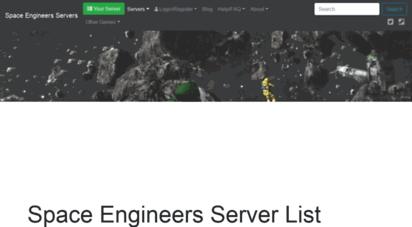 space-engineers.com - space engineers server list  space engineers multiplayer servers