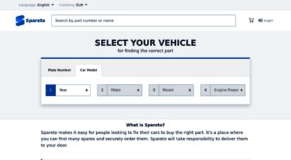 spareto.com - spareto - car parts and accessories