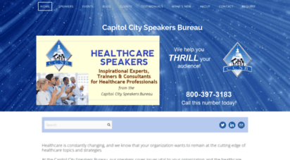 speakersfornurses.com - speakers and trainers for nurses and other healthcare professionals from capitol city speakers bureau