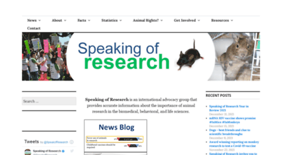 speakingofresearch.com - speaking of research  improving understanding about animal research / animal testing