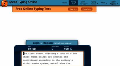 speedtypingonline.com - free online typing test - speedtypingonline