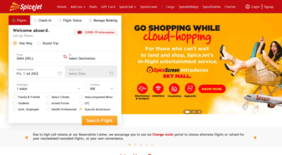 spicejet.com - spicejet - flight booking for domestic and international, cheap air tickets
