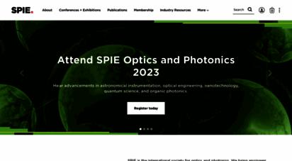 spie.org - spie homepage