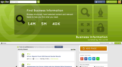 spoke.com - spoke  discover relevant business information
