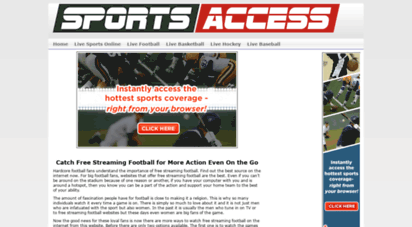 sports-access.net - live stream - stats - scores - schedules - standings with first row sports - free sports access - streaming sports - first row sports