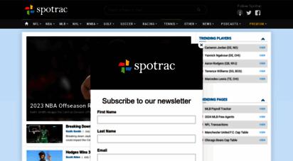 spotrac.com - sports contracts, salaries, caps, bonuses, & transactions  spotrac.com