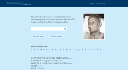 srichinmoylibrary.com - welcome to sri chinmoy library