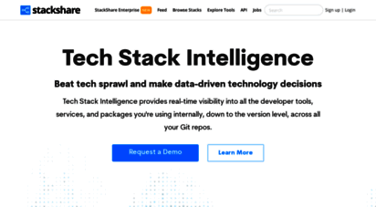 stackshare.io - stackshare - software and technology stacks used by top companies