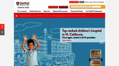 stanfordchildrens.org - stanford children´s health - lucile packard children´s hospital stanford