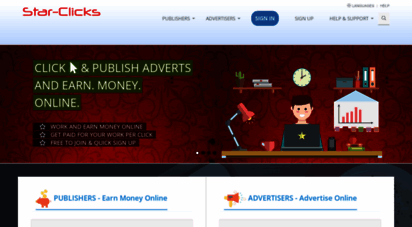 star-clicks.com - earn & make money online get paid by paypal bank transfer