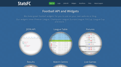 Welcome to Statsfc com - StatsFC – Football API and Widgets
