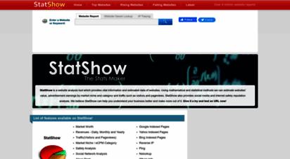 statshow.com - statshow - free website anlysis and traffic estimator tool