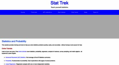stattrek.com - statistics and probability