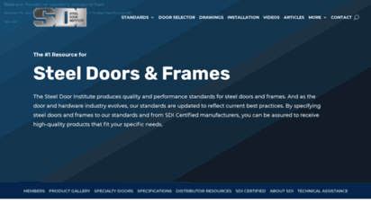 steeldoor.org - 1 resource: standard & custom steel doors and frames specifications
