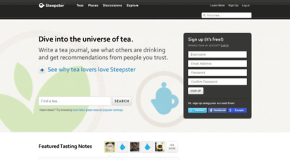 steepster.com - steepster — a tea community