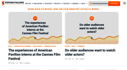 stephenfollows.com - stephen follows - film industry data and education