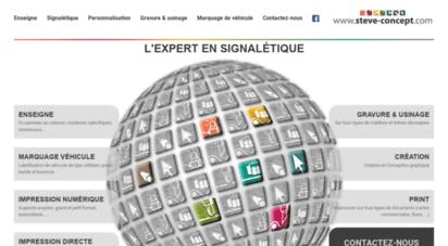 steve-concept.com - steve concept : sites internet, webdesign, imagerie, signalétique, enseigne entre arras et lens - nord.