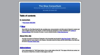 stoa.org - the stoa consortium