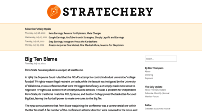 stratechery.com - stratechery by ben thompson - on the business, strategy, and impact of technology.