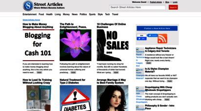 streetarticles.com - street articles -  writers become authors