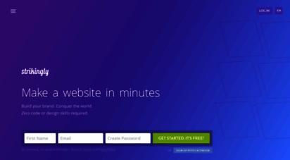 strikingly.com - how to make a website - free website builder  strikingly