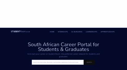 studentroom.co.za - studentroom.co.za - internships and bursaries in sa 2018, 2019
