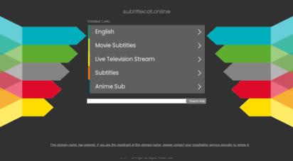 subtitlecat.online - subtitle cat - easy to translate & download srt files