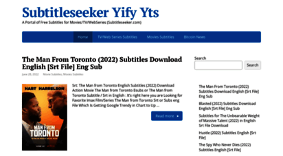 subtitleseeker.in - subtitle seeker - a portal for english subtitles download free for new movies in srt format subtitleseeker.com