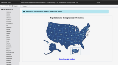 suburbanstats.org - population information and statistics from every city, state and county in the us