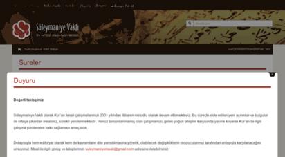 suleymaniyevakfimeali.com - süleymaniye vakfı meali - ayetlerin ayetler ile açıklandığı fıtrat kitabı kur´an- ı kerim meali