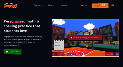 sumdog.com - adaptive learning games for maths and spelling to support home learning.