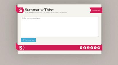 summarizethis.com - summarizethis™