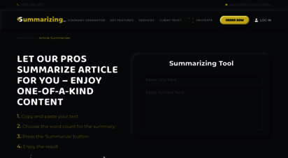 summarizetool.com - top-rated summarize tool for easy short conclusions